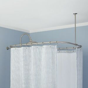 Image Is Loading Naiture Brass Rectangular Shower Curtain Rod In 9