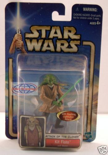 StarWars figurine : Star Wars Aotc Kit Fisto Figurine Hasbro 2002