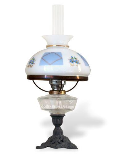 Petroleumlampe alte Tischlampe Schreibtischlampe Glas Lampenschirm TOP-Zustand
