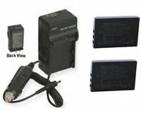 2 Batteries + Charger For Sanyo Vpc-wh1 Vpc-wh1bl Vpc-wh1ex Vpc-wh1gx Vpc-wh1yl