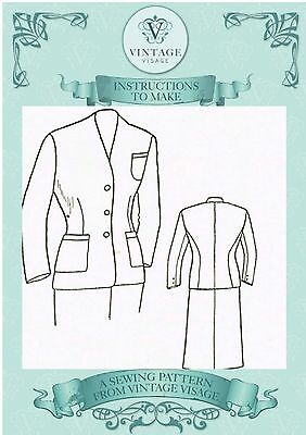 Vintage 1940s sewings instructions-how to convert a mans suit into a womans suit