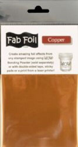 """WOW Fab Foil COPPER Stamping Foil Clay Plaster Paper Approx 4"""" x 46"""""""