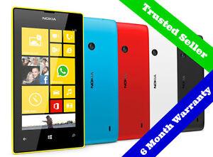 ORIGINAL-8GB-Nokia-Lumia-520-Windows-Smartphone-Unlocked-6-Month-Warranty