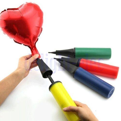 Hand Held Dual Action Plastic Balloon Pump Inflator Portable Colors Wedding DE