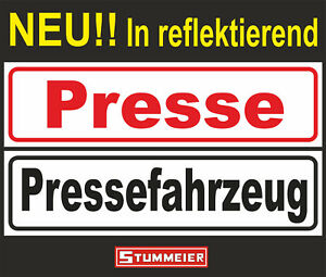 Magnetschild-Presse-Pressefahrzeug