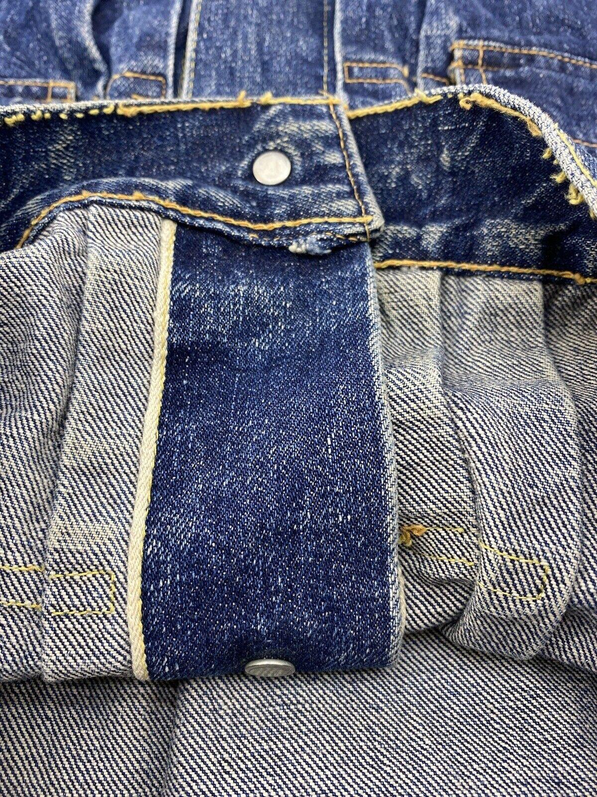 vtg levis type 2 1950's denim jacket Big E Origin… - image 5