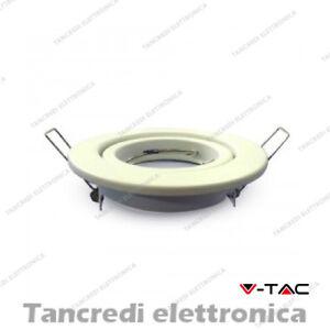 Portafaretto Orientabile Da Incasso V-tac Vt-7227 Rotondo Bianco 99 Mm Gamme ComplèTe D'Articles