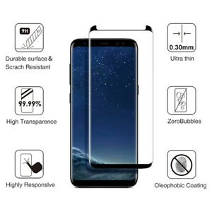 2-Pack Screen Protector Tempered Glass for Samsung Galaxy S9 S8 Plus S8 Note 8 9