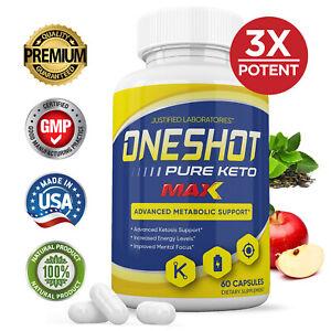 One Shot Pure Keto Max 1200MG Pills Weight Loss Diet BHB Ketogenic Supplement