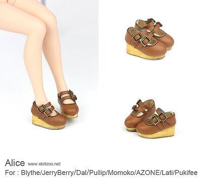 Alice shoes_Brown for Blythe / DAL / Pullip / Momoko/ Lati_y/Pukifee