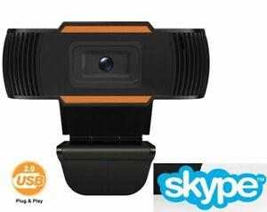 WEBCAM HD 720P CON MICROFONO INTEGRATO SMART WORKING SKYPE VIDEO CAMERA PER PC