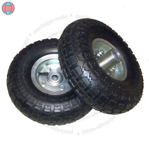 2X-New-10-034-Inch-Pneumatic-Replacement-Tyres-Sack-Hand-Truck-Trolley-Wheel-Barrow