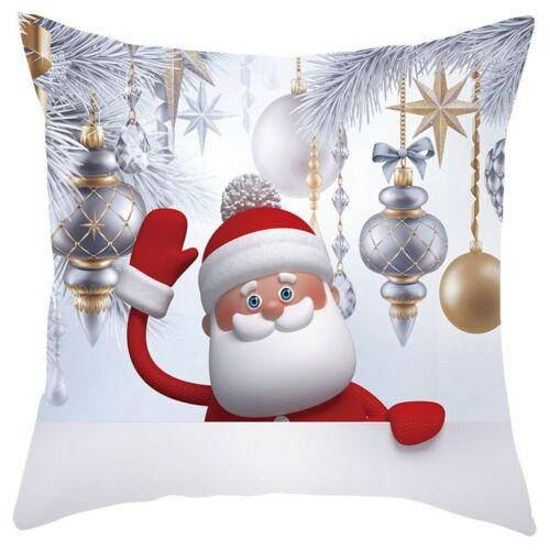 "18x18/"" Christmas Sofa Pillow Case 3D Snowman Cushion Cover Decorative Covers"
