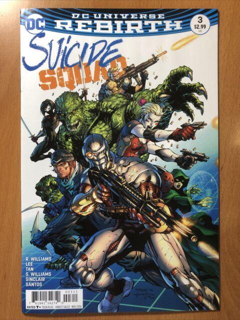 DC Comics Suicide Squad #3 VF-NM Jim Lee Cover And Interior Art