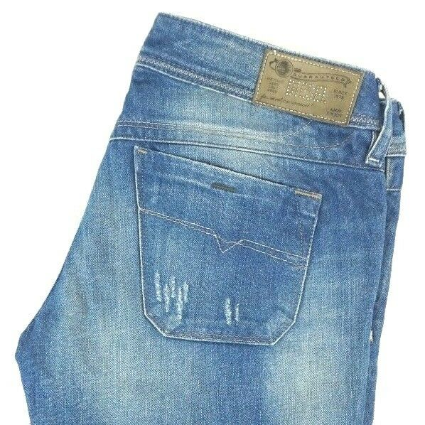 NWT DIESEL Women's Medium Wash 0823U Lowky Regular Slim Straight Jeans 27 x 33