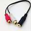 Dual-RCA-Female-to-3-5mm-Female-Stereo-Splitter-Cable thumbnail 2