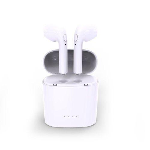 Wireless Duel Earbud Music In Ear Earphone Bluetooth Car Headset With Mic