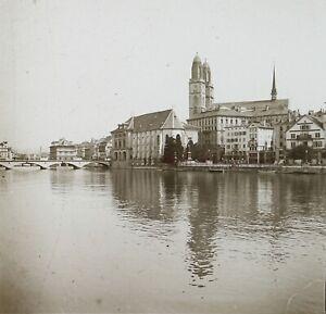 Suisse-Zurigo-Ca-1910-Foto-Stereo-Placca-Da-Lente-VR12c
