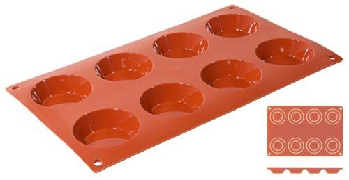 rein /& langlebig Backform Backmatte Tartelette aus terrakottafarbenem Silikon