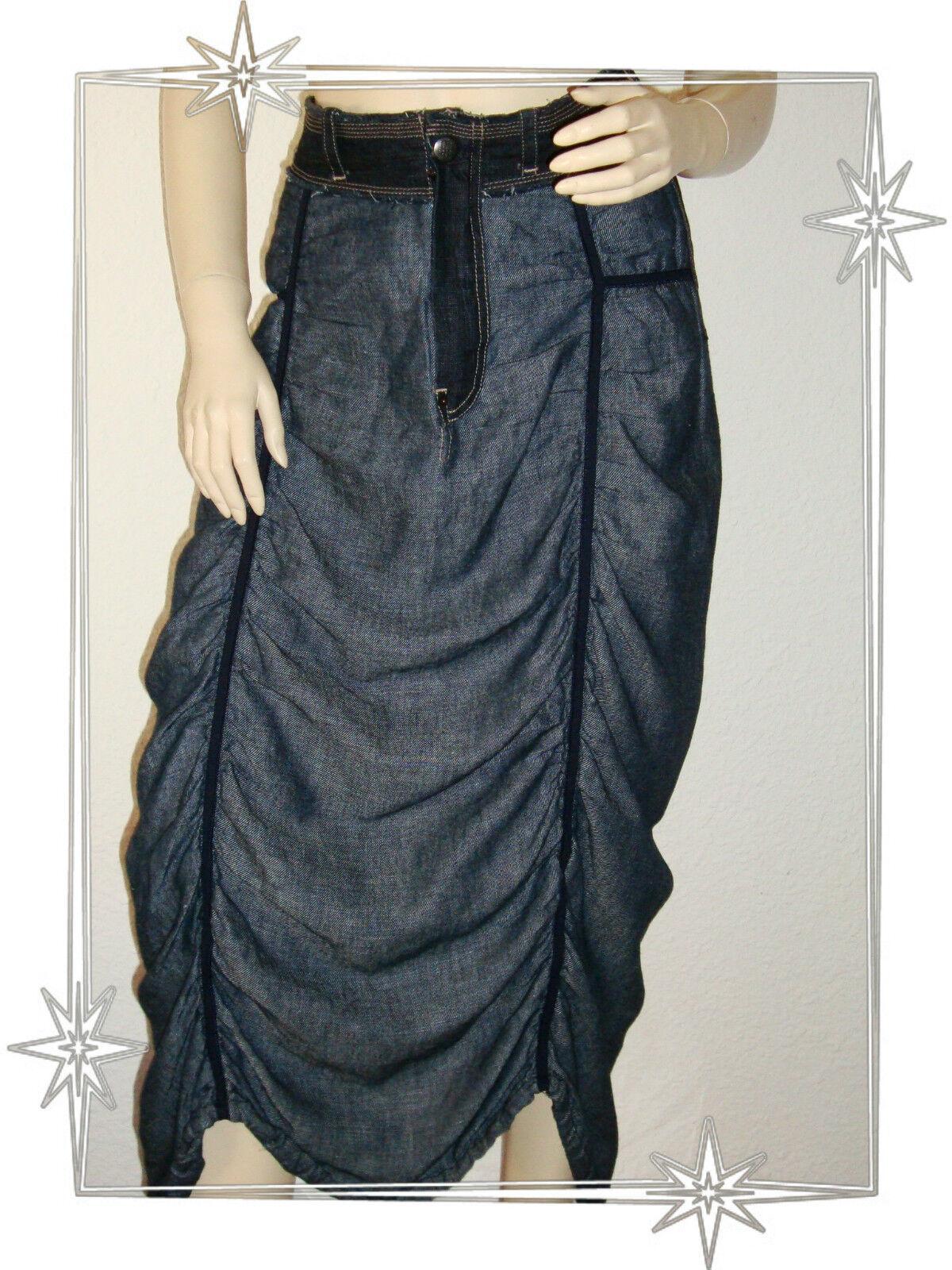 A- Very Nice Skirt Fancy Long Frilly Marithé François Girbaud MFG T 34
