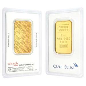 Lot Of 2 1 Oz Credit Suisse Gold Bar 9999 Fine In Assay Ebay