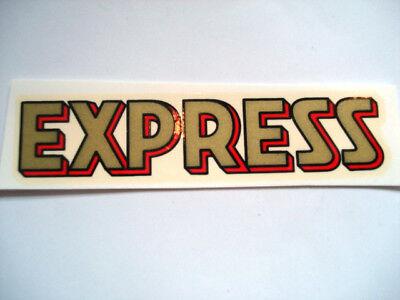 Express Schriftzug Wasserabziehbild Abziehbild Superior Materials Automobilia Accessoires & Fanartikel
