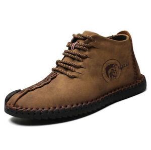 42044ad06f7 Image is loading Zapatos-de-botas-para-hombre-Botines-casuales-Zapato-