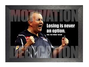 Phil Taylor 4 Darts World Champion Motivation Determination Sports Icon Poster