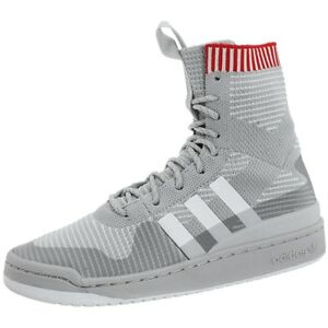 8f515783f47d8c Adidas Forum Winter Primeknit gray white men s high-top sneakers ...