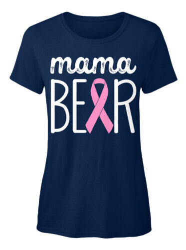 Mama Bear Standard Women/'s T-shirt Ition Breast Cancer Awareneness
