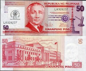 Philippines 50 Pesos 2013 UNC Commemorative Trinity University of Asia