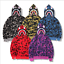 Bathing Ape Bape Shark Jaw Camo Full Zipper Hoodie Sweats Coat Jacket Men DE