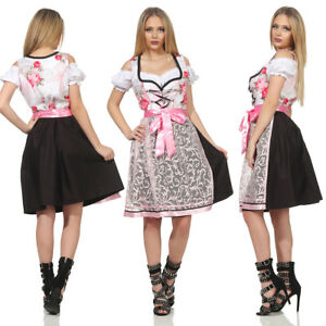 051 Trachtenkleid 3tlg. Dirndl Oktoberfest Gr: 34 36 38 40 42 44 46 Wiesn Kleid