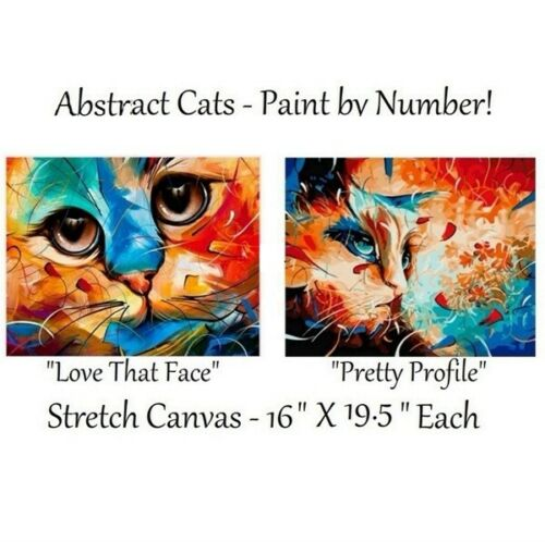 Abstract Cats Paint By Number Canvases ONE PRICE! TWO KITS