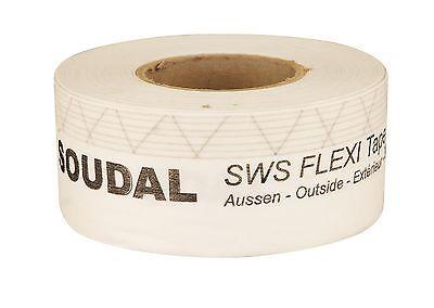 1x 25m Soudal SWS Flexi Tape Outside Außen Fensterdichtband 3 Breiten z. Auswahl