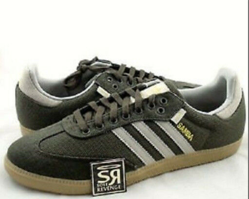 51d6eb8124dc RARE Vtg. adidas Hemp Samba Turf Indoor Soccer Shoes Trainers SNEAKERS Mens  Sz 5 for sale online