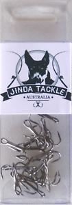 Treble Hooks Ultra Sharp Hi-Carbon Steel 12 PCK #8 Fishing Lure Hooks