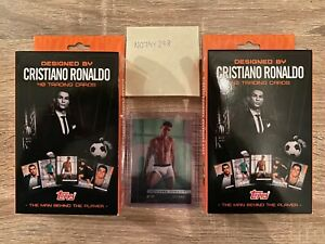 Topps-Cristiano-Ronaldo-Curated-Set-TWO-Opened-Sets-1-50-Green-Parallel-Card