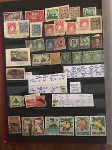 Timbres-Eire-Lichtenstein-Liban-39-de-1920-a-1960