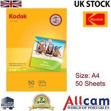 50 Sheets: Kodak Glossy Photo Paper A4 (210 x 297 mm) 180 g/m2, RETAIL