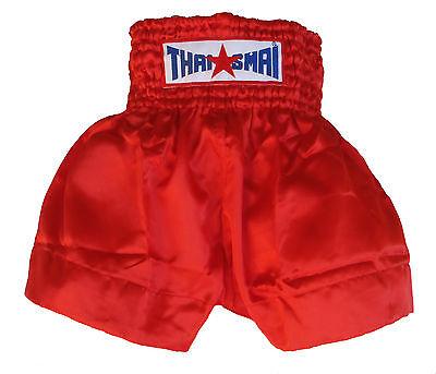 Short boxe Thaïlandaise Muay Thai THAISMAI satin vert toutes tailles