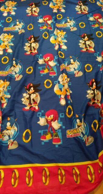 Sonic The Hedgehog Flat Sheet Twin Size Sega Shadow Knuckles Vintage For Sale Online Ebay