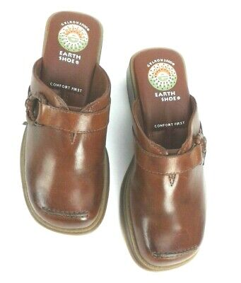Comfort Shoes Devoted Earth Shoes Tyler 6843194 Size 5.5 Brown Slip-on Clogs Comfort First Gelron 2000 Invigorating Blood Circulation And Stopping Pains