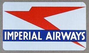 IMPERIAL-AIRWAYS-VINTAGE-ORIGINAL-AIRLINE-LUGGAGE-LABEL-BAGGAGE-BAG