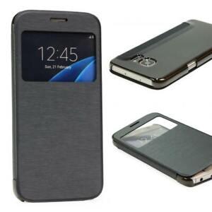 Samsung-Galaxy-s7-View-Case-fenetre-Cover-Housse-de-Protection-pour-Telephone-Portable-Pochette
