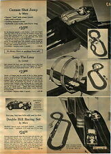 1965 ADVERT 2 Sided Marx Cannon Shot Jump Car Road Race Lionel Loop The Loop HO