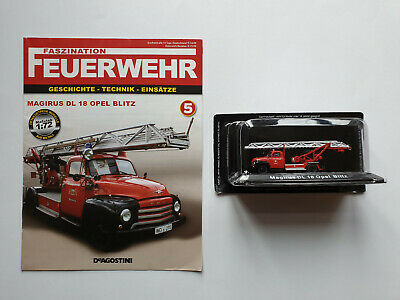 Restposten Feuerwehr Magirus DL 18 Opel Blitz Atlas 1:72 Neuware
