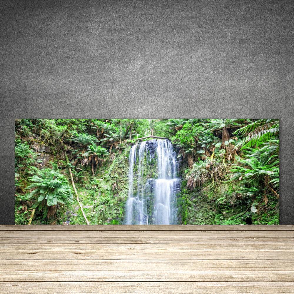 Crédence de cuisine en verre Panneau 125x50 Nature Arbres Cascade