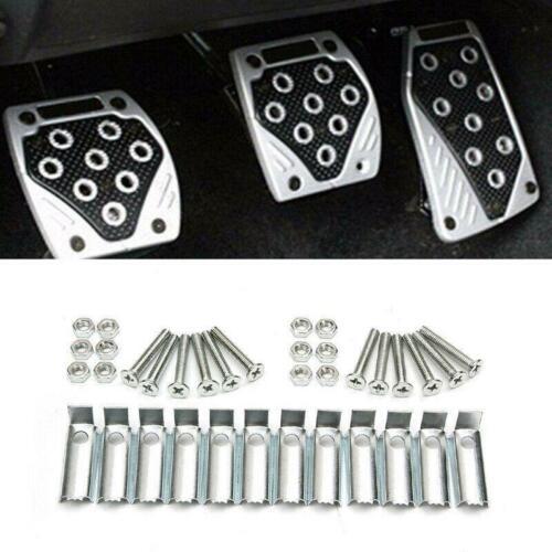 3PCS Aluminum APC Non-Slip Car Foot Pedals Pad Cover Brake Clutch Accelerator
