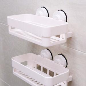 Details About Suction Cup Shower Caddy Shelf Storage Basket Home Bathroom Organizer